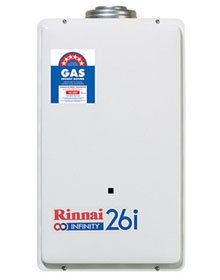 Rinnai 26i available and installed at a great rate by Rupes Plumbing Sydney